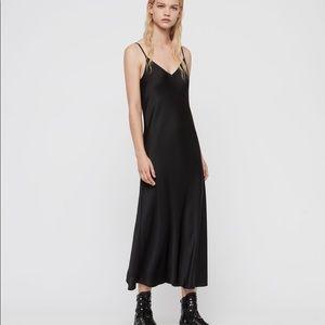 AllSaints Black Slip Dress
